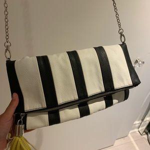 Steve Madden black&white striped crossbody purse
